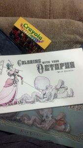 Image of my personal copy of Brian Kessinger's Coloring With Your Octopus